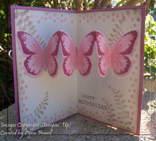 Watercolour wings popup